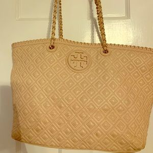 Tory Burch blush tote bag— retail $598